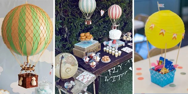 Hot Air Balloon Birthday Party Decor
