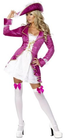 pink velvet adult women's pirate costume