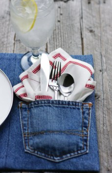 Great craft idea denim placemats