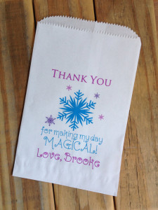 Snowflake Party Favor Bags