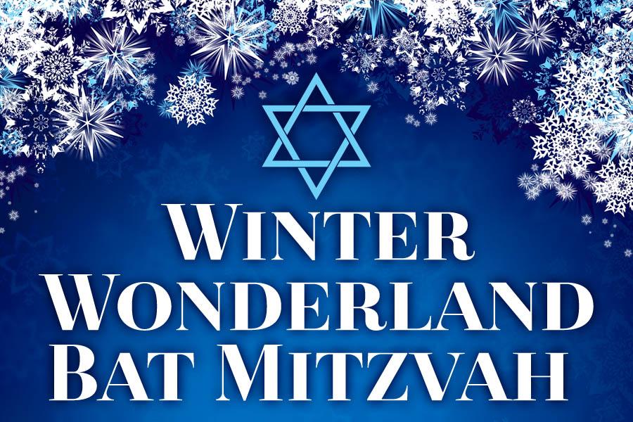 Winter Wonderland Bat Mitzvah Invitations and Ideas Header Graphic