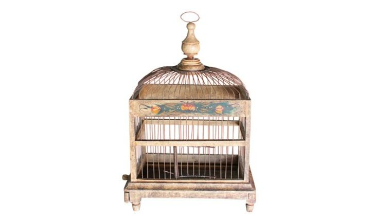 small birdcage you can rent for a boho wedding