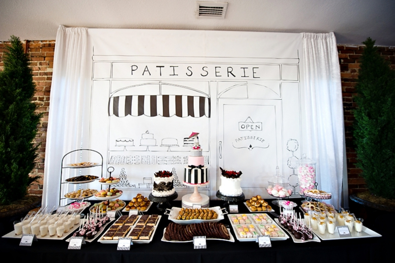 Paris themed bridal shower from theeverylastdetail