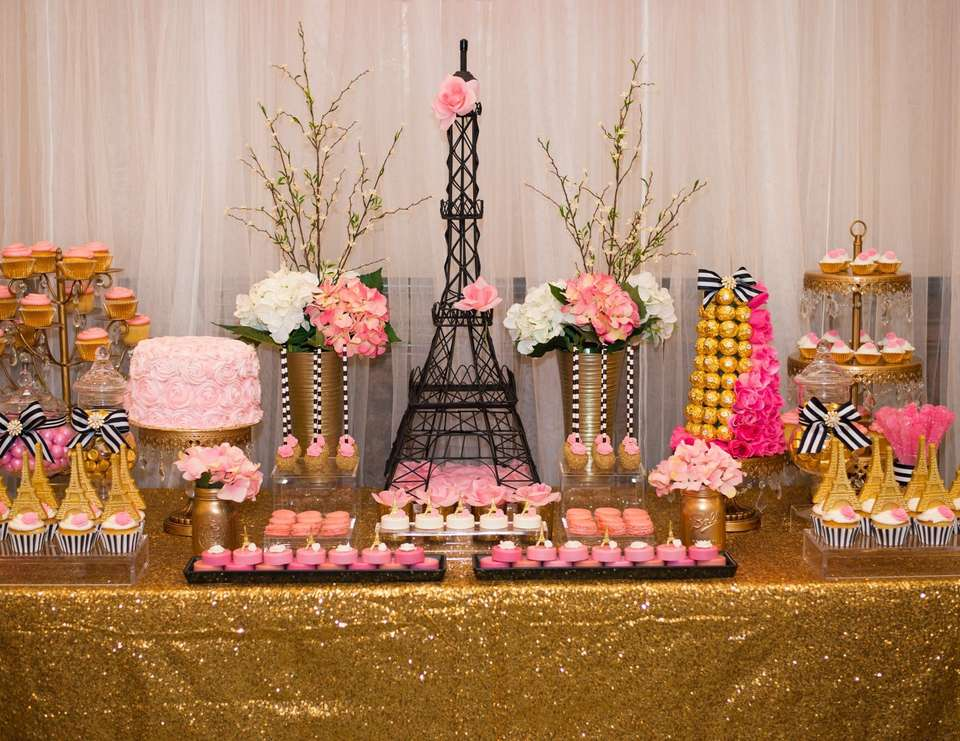 Paris bridal shower inspiration from Catch My Party