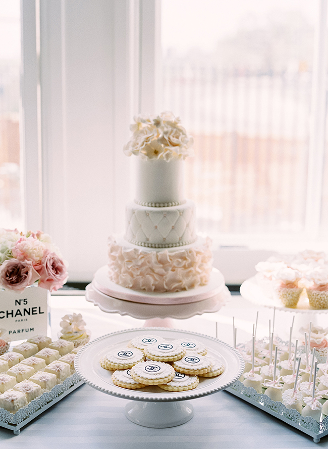 Parisian Chanel Bridal Shower Decor by Inspired by This