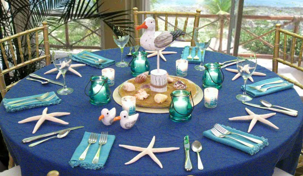 Beach Reception Centerpieces