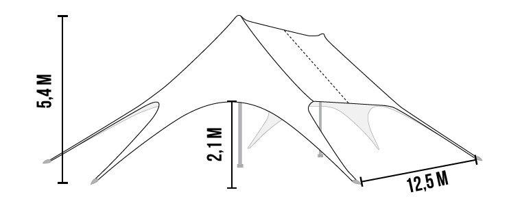 afmetingen stertent 13 x 19 meter