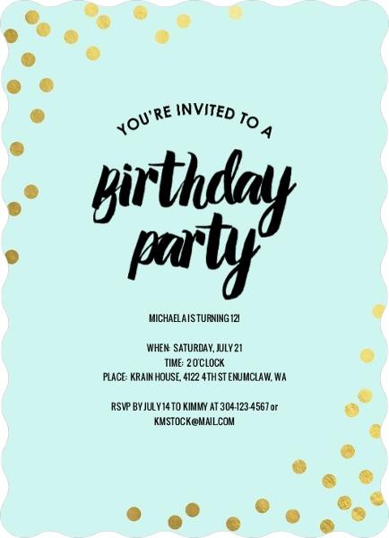 Tween birthday invitations blank printable filmwisefo
