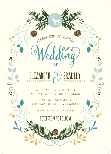 Woodland Rustic Frame Wedding Invitation By Weddingpaperie Com