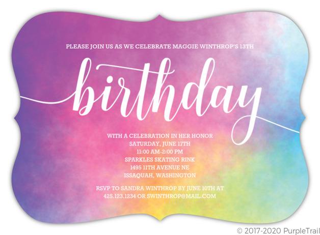£0.00 inc vat £5.00 from £0.80. Rainbow Birthday Party Ideas Invites Wording Activities Favors