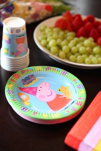 Peppa Pig cups and plates