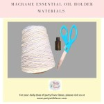 Easy To Make Diy Macrame Essential Oil Holder Party With Favor