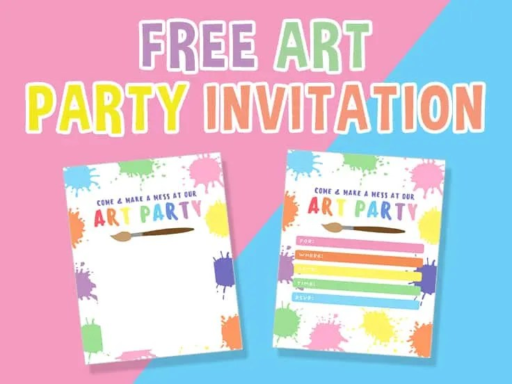 art party invitation get your free