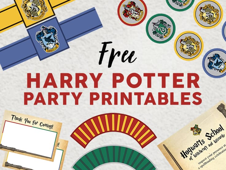 30 Free Harry Potter Printables Crafts Party Decor Games And More