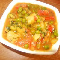 आलू मटर टमाटर की सब्जी बनाने की विधि/ तरीका हिन्दी में Aloo Matar Tamatar Sabzi Recipe Vidhi in Hindi