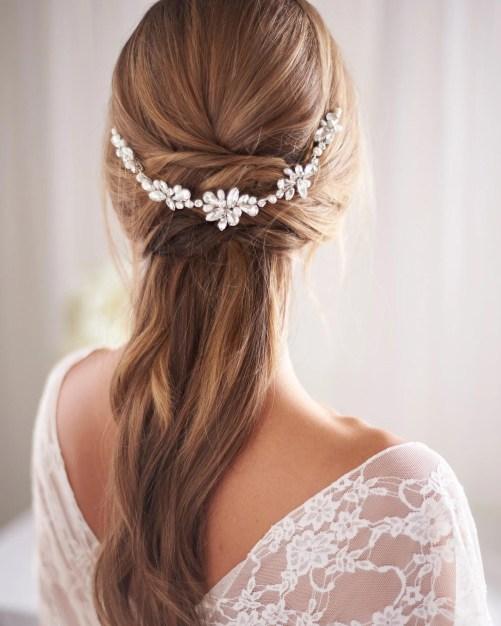 Blake_Bridal Halo Headband hair vine with pearls and crystals