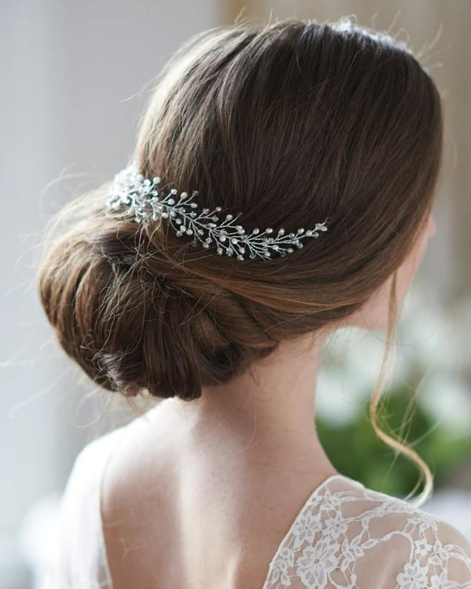 Ella_Bridal Halo Headband hair vine with pearls and crystals