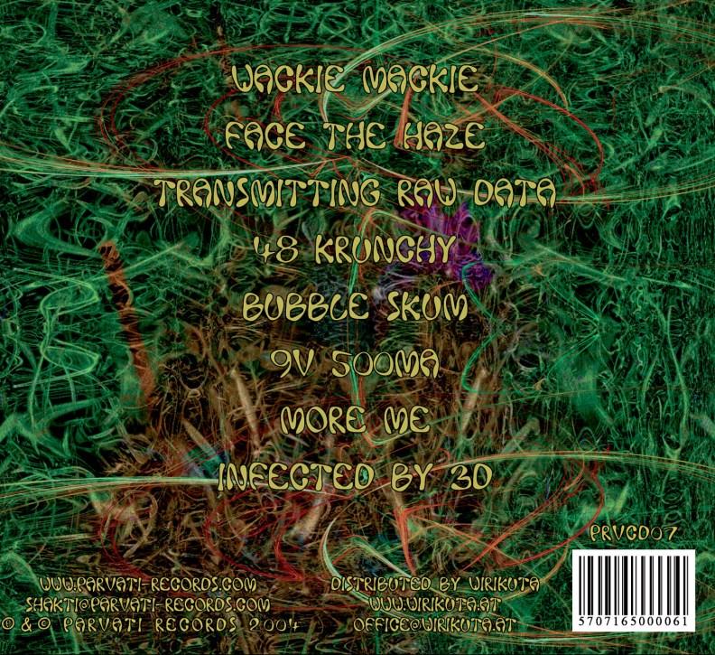Split Album - Grapes of Wrath & Meteloids - Tits on Fire - prvcd07 - back cover