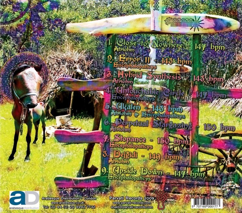Split Album - Atriohm & Encephalopaticys - Ukalen - prvcd17 - back cover