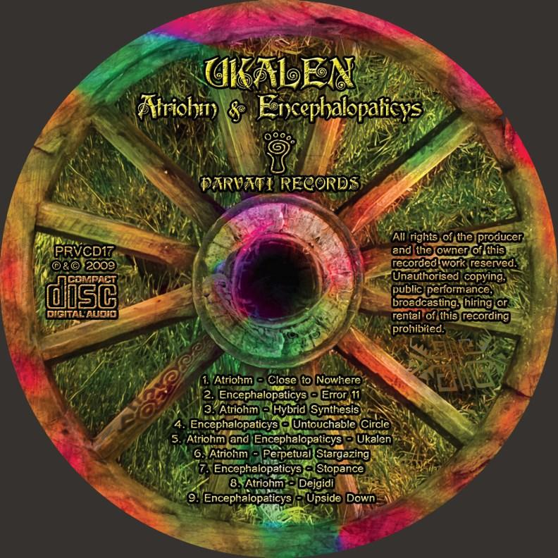 Split Album - Atriohm & Encephalopaticys - Ukalen - prvcd17 - CD image