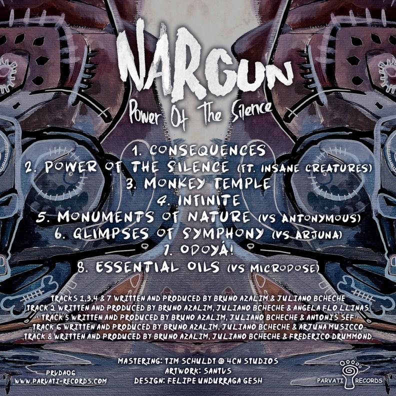 Nargun - Power of The Silence - prvda06 - back cover