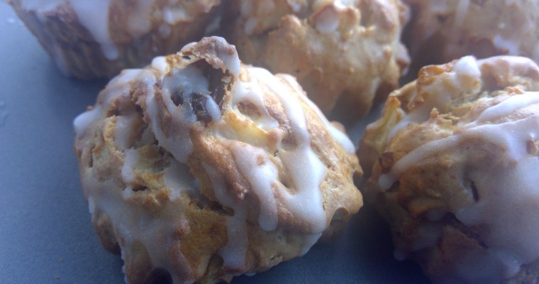 Apple walnut muffins with buttermilk glaze
