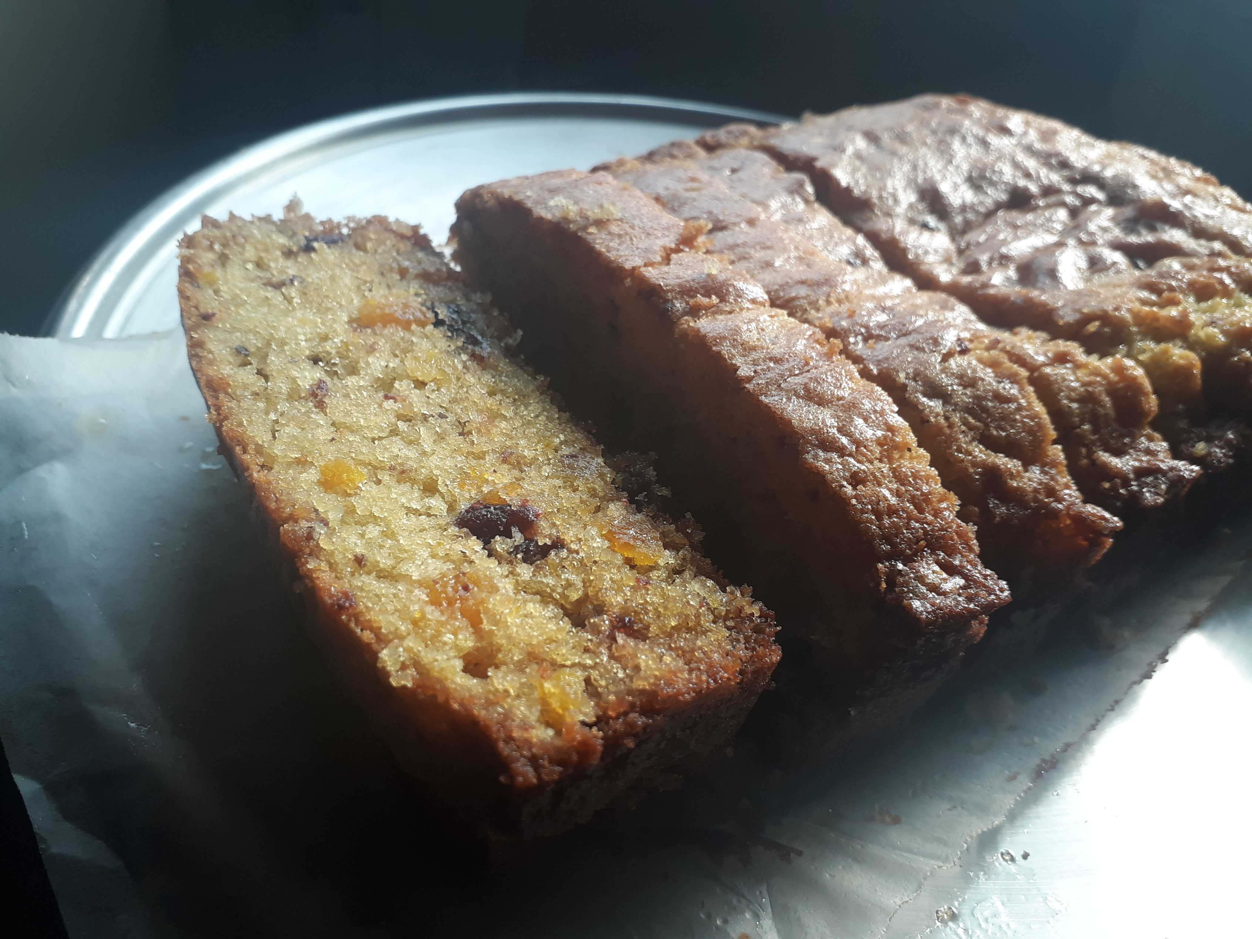 Apricot & Cranberry cake loaf