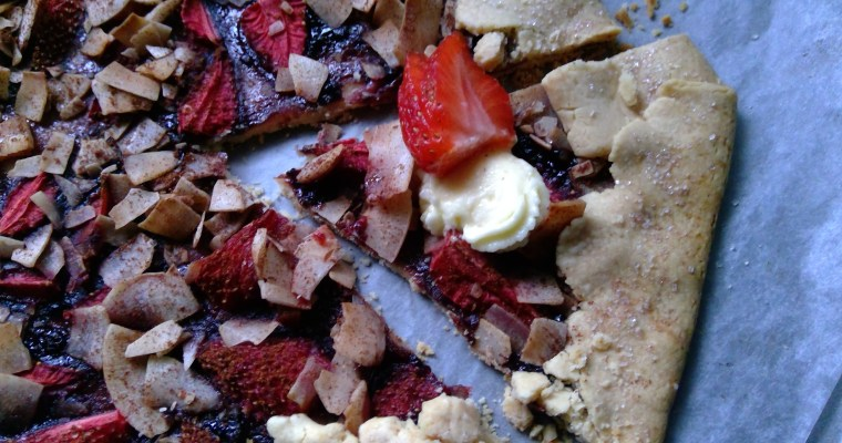 Easy Strawberry Coconut Galette
