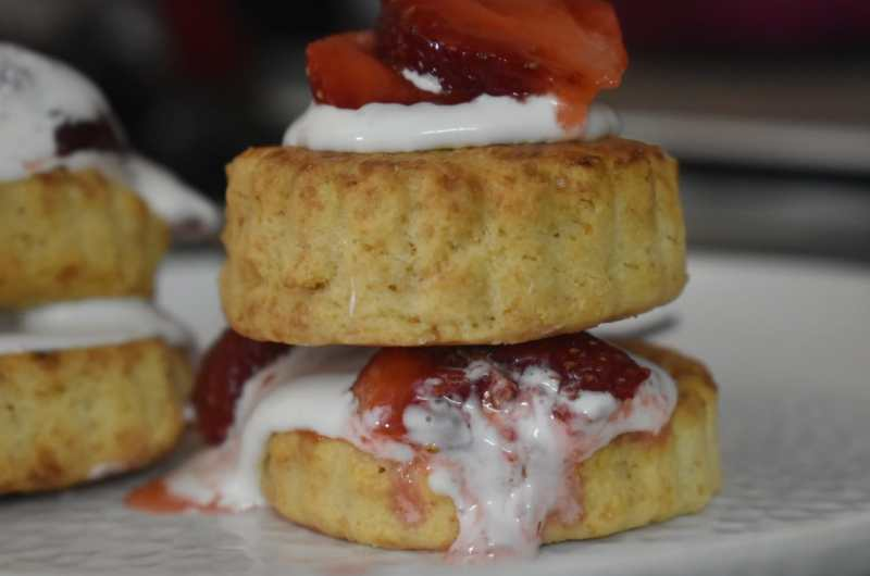 Easy Homemade biscuits/Strawberry Shortcakes