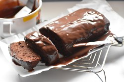 Chocolate Banana Bread with Chocolate Fudge Icing