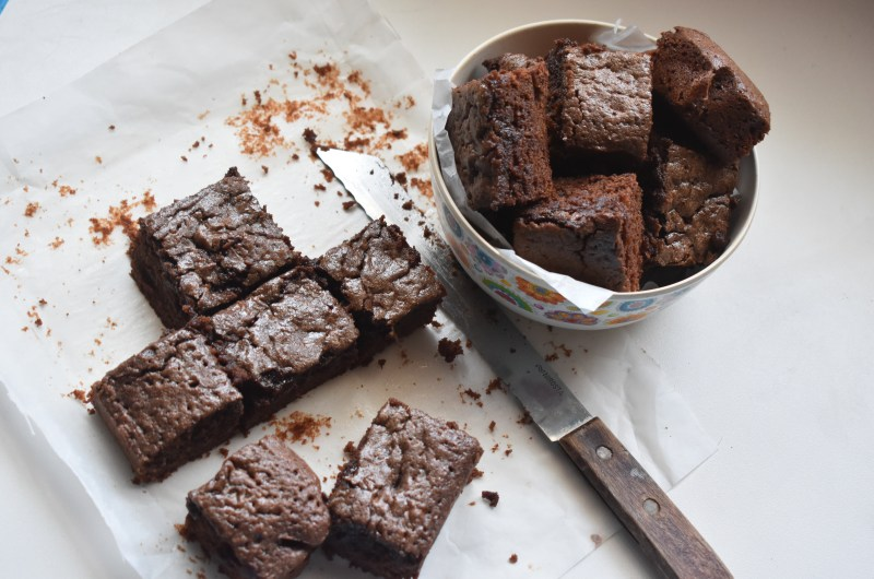 Easiest Fudge Brownies