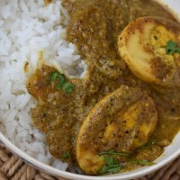 Indian Egg Pepper Curry with Coconut