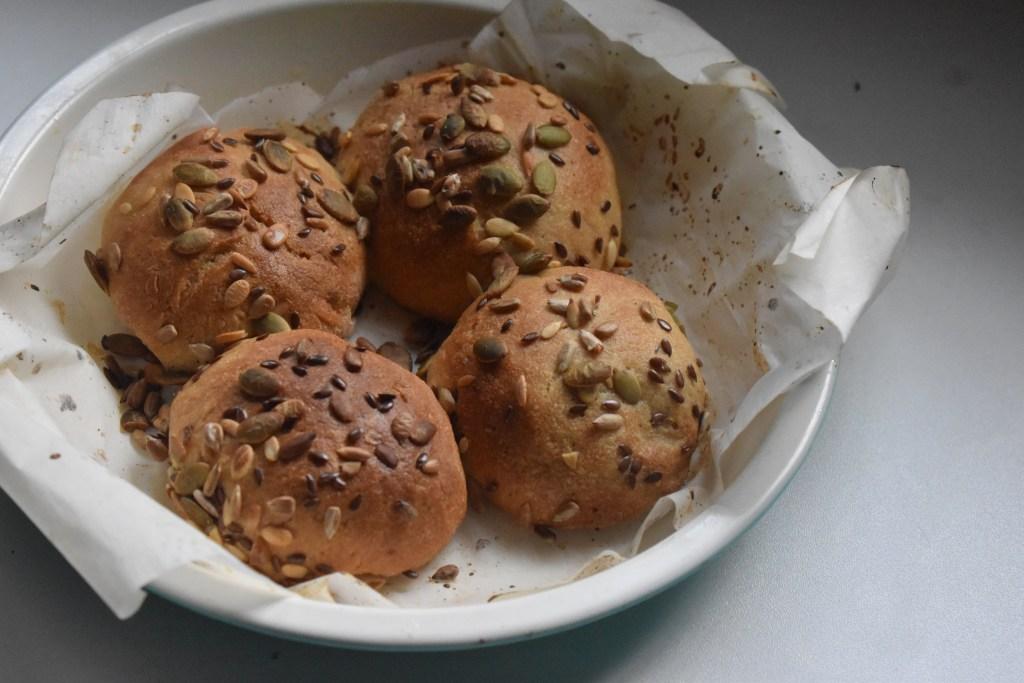 Olive Oil Pepita Flax Seed Mix rolls- Parveen's kitchen