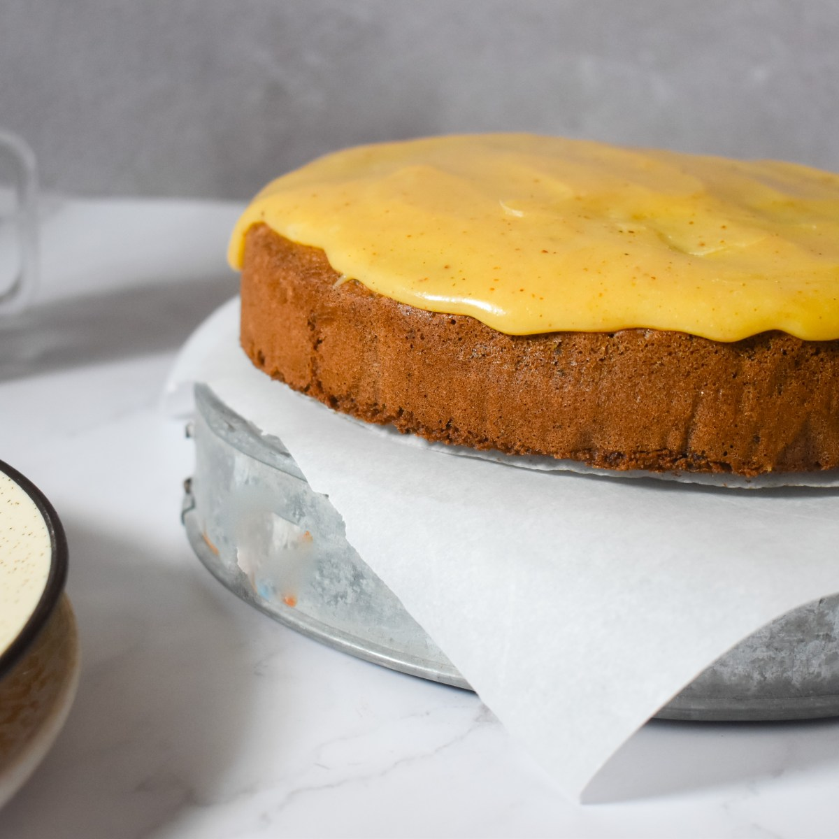 Caramel Cake with Whipped Caramel Frosting - Parveenskitchen.com