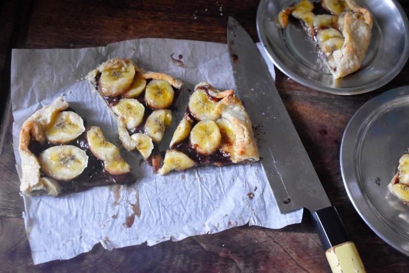 Banana Nutella Galette