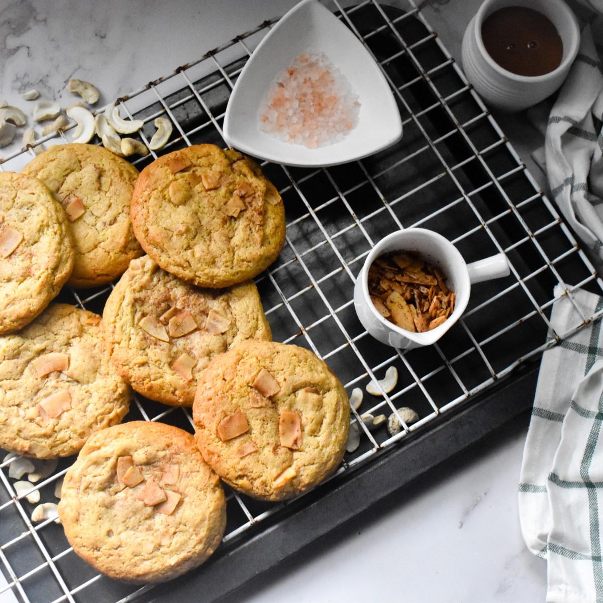 Healthy Cashew Butter Coconut Cookies - Parveenskitchen.com