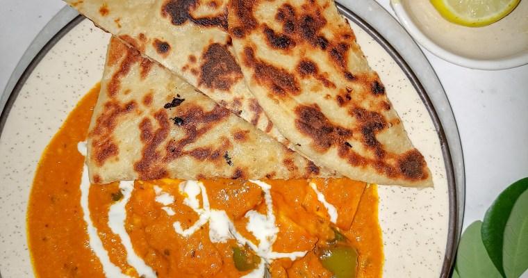 North Indian dinner.. Naan and paneer Tikka masala