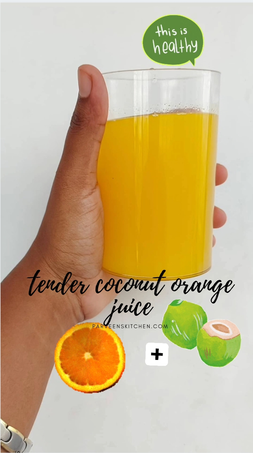 Tender coconut orange juice