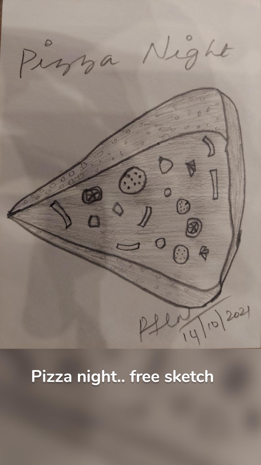 Pizza night.. free sketch