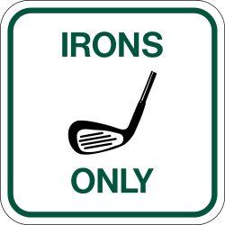 Par West Turf Aluminum Course Sign Irons Only