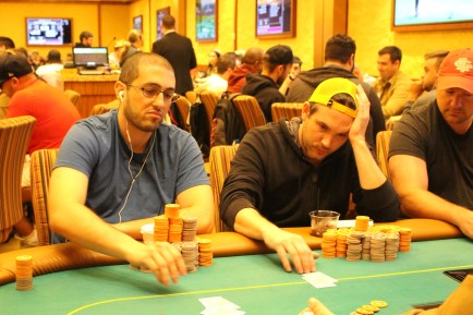 Will Corvino Chip count: 1.2 mil(L) Rob Gerrard chip count: 1 mil