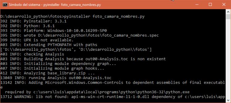 Empaquetando script con PyInstaller