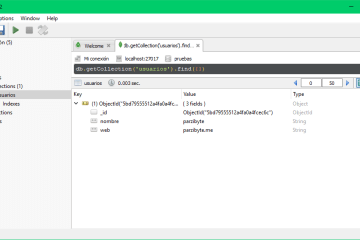 5 - Abrir base de datos, explorar colecciones y datos de MongoDB usando Robomongo