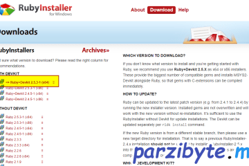 Descargar RubyInstaller, el instalador de Ruby para Windows