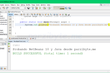 Hola mundo en NetBeans 10 con Java en Windows 10