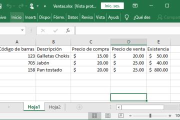 Archivo de Excel que vamos a importar hacia MySQL usando PHP