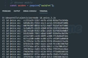 Generar id o cadena única (UUID) en Node JS