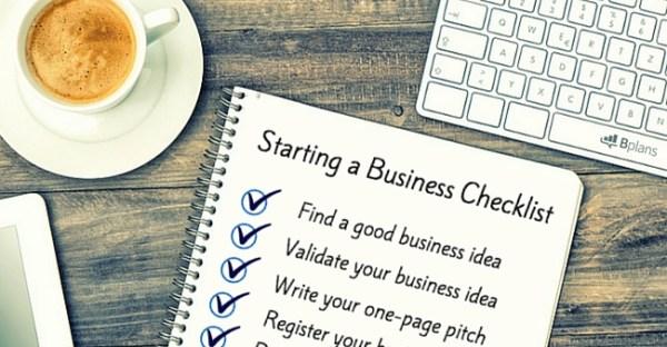 Business Startup Checklist – Free Download | Bplans