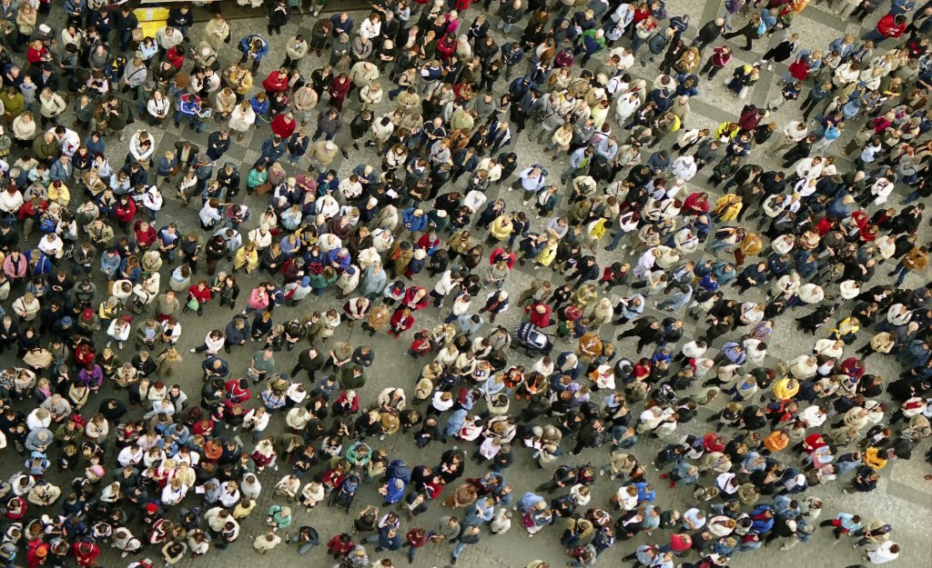 Crowd of people in street 2