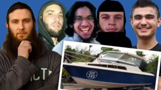 The five men who were allegedly intending to head to Indonesia in a small boat. From left Musa Cerantonio, Paul Dacre, Shayden Thorne, Antonio Granata and Kadir Kaya.